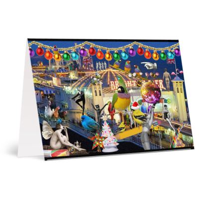 Happy Brighton Christmas pack of 16 Greetings Cards