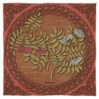 Celtic Rowan Scarf, Wrap or Shawl