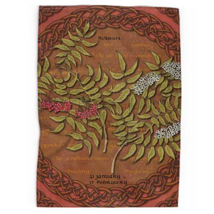 Tree Calendar Rowan Tea Towel