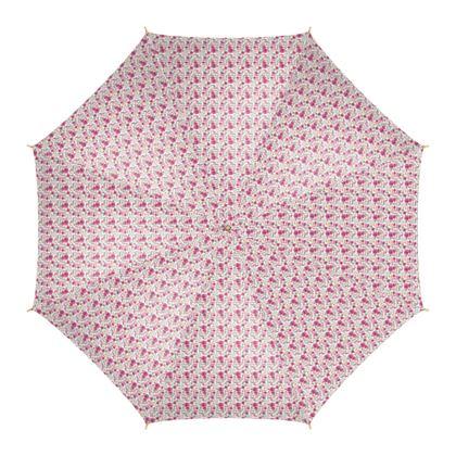 parapluie motifs roses, fond blanc