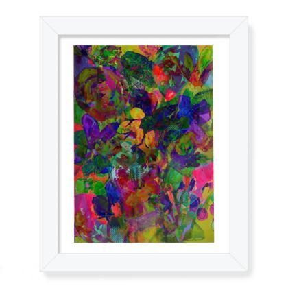 Frame floral print