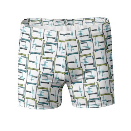 Modern Geometric Swimming Trunks