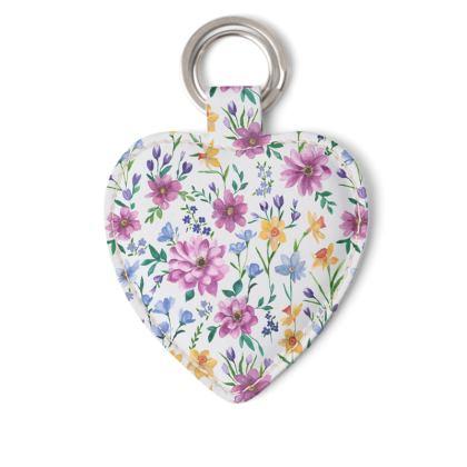 Floral Heart Keyring, Beautiful Blooms Design
