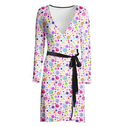 Atomic Collection Wrap Dress
