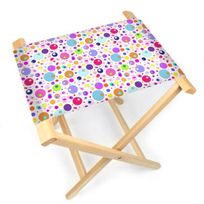Atomic Collection Folding Stool Chair