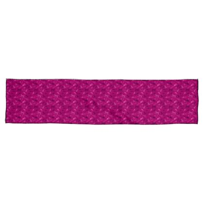 Hot Pink Chiffon Scarf - Cats on Broomsticks
