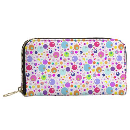 Atomic Collection Leather Zip Purse