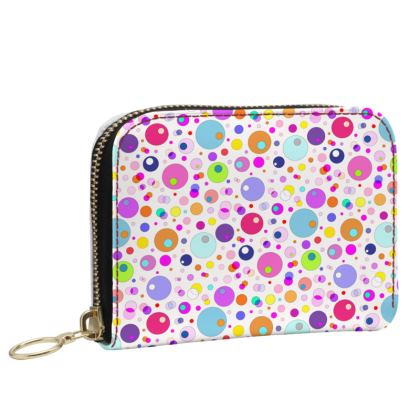 Atomic Collection Small Leather Zip Purse