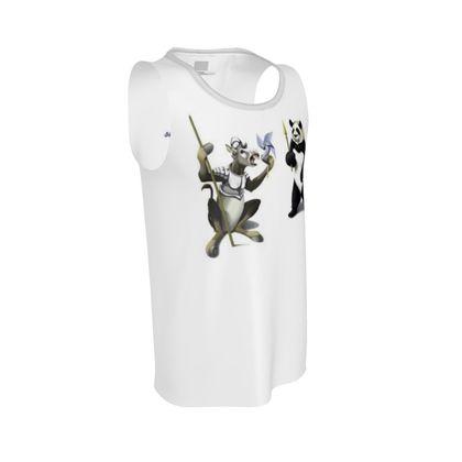 Donkey Xote and Sancho Panda ~ Wordless Animal Behaviour Cut and Sew Vest