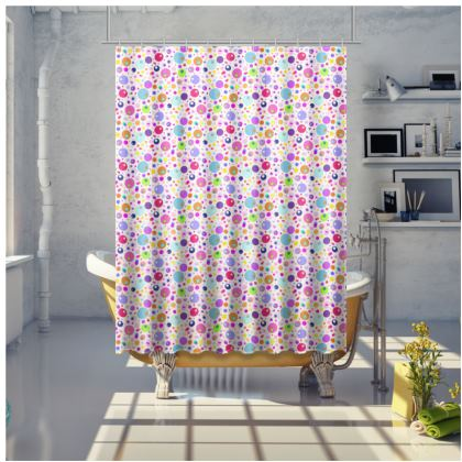 Atomic Collection Shower Curtain