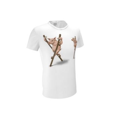 Stick in the Mud ~ Wordless Animal Behaviour Cut and Sew T Shirt