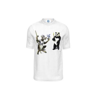 Donkey Xote and Sancho Panda ~ Wordless Animal Behaviour Cut and Sew T Shirt