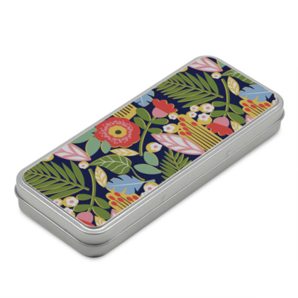 Paradise house tropical floral Pencil Case Box