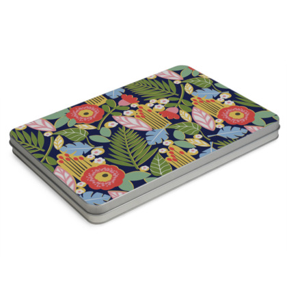 Paradise House Tropical Floral A4 Pencil Case Box