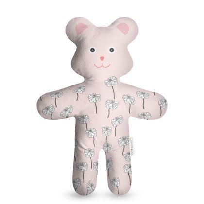 Teddy bear - Poppies lines art