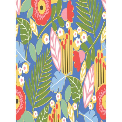 Paradise House Tropical Floral Blue Large Tray