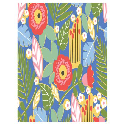 Paradise House Tropical Floral Blue Small Tray