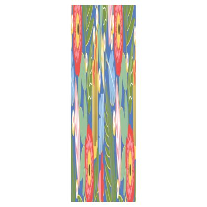 Paradise House Tropical Floral Blue Slim Tray