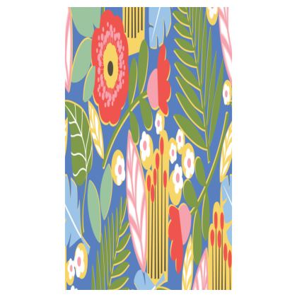 Paradise House Tropical Floral Blue Desk Tidy Tray