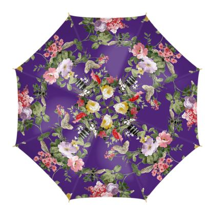 Umbrella Purple Flora and Bees