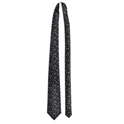 Unusual Tie for Cats Lovers - Cats on Broomsticks
