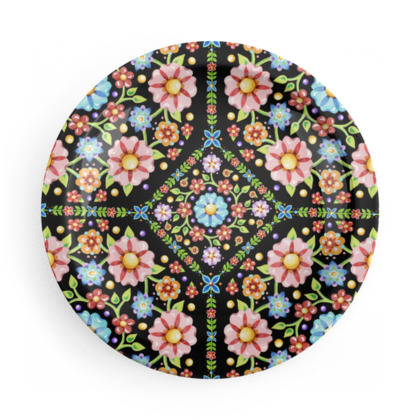 Millefiori Folkloric Party Plates