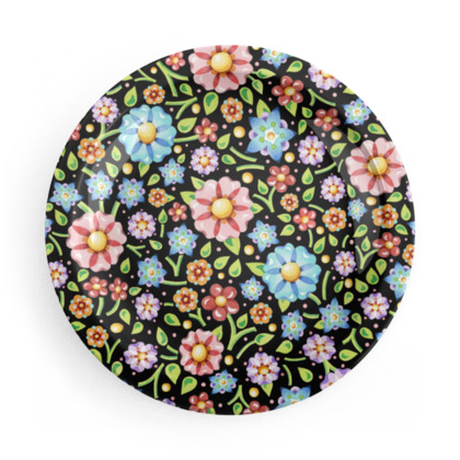 Millefiori Floral Party Plates