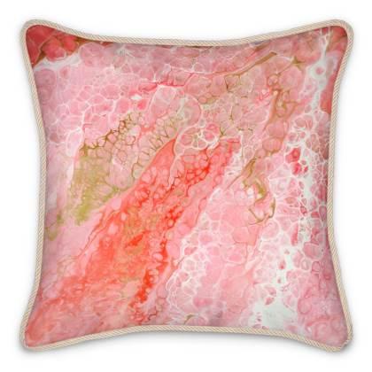 Flamingo Silk Cushion