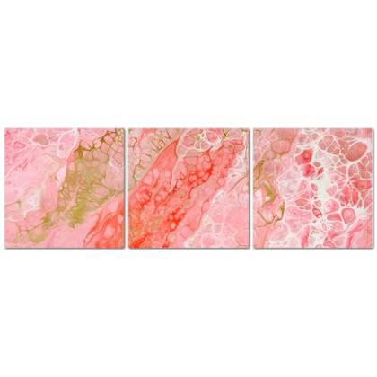 Flamingo Triptych Canvas (Small)