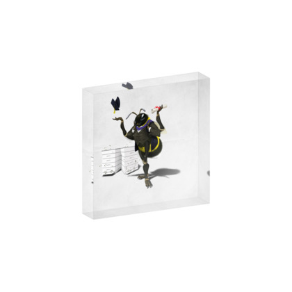 To Bee or Not Too Bee ~ Colour Animal Behaviour Acrylic Block