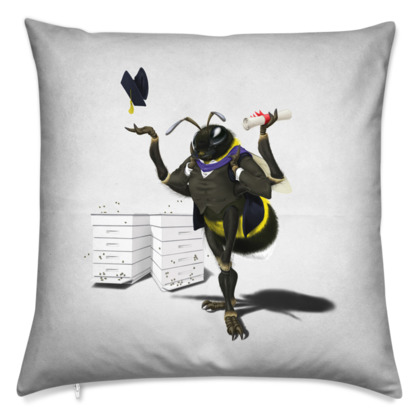 To Bee or Not Too Bee ~ Wordless Animal Behaviour Cushion