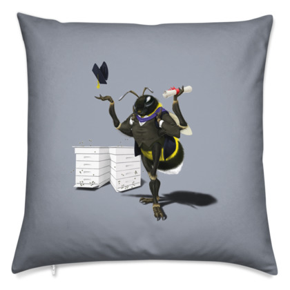 To Bee or Not Too Bee ~ Colour Animal Behaviour Cushion