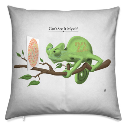 Can't See it Myself ~ Title Animal Behaviour Cushion
