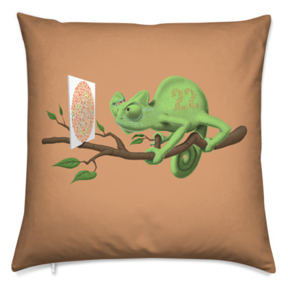 Can't See it Myself ~ Colour Animal Behaviour Cushion