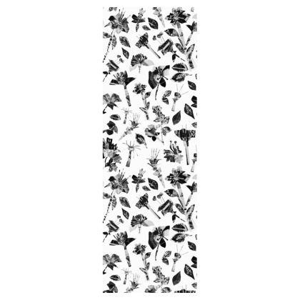 White Floral Deckchair