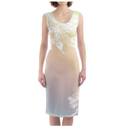 Bodycon dress - Fodralklänning - White ink gradient