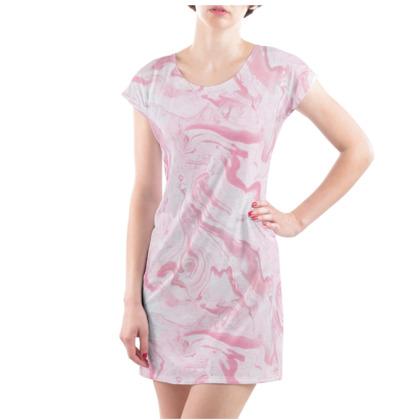Pinky Blinders Marble Skywalker Ladies T Shirt Dress