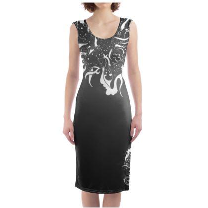 Bodycon dress - Fodralklänning - White ink black