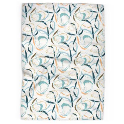Tea Towel: Rockpools & Seagrass on White