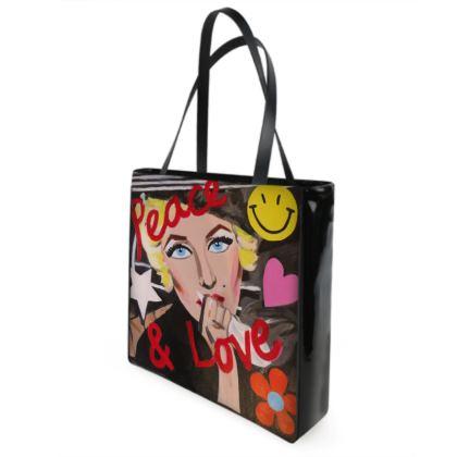 'Peace and Love' shopper bag