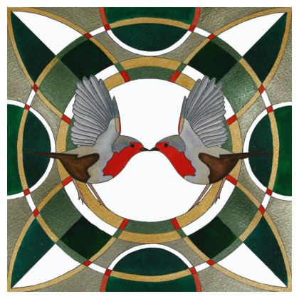 Two Robins Coasters