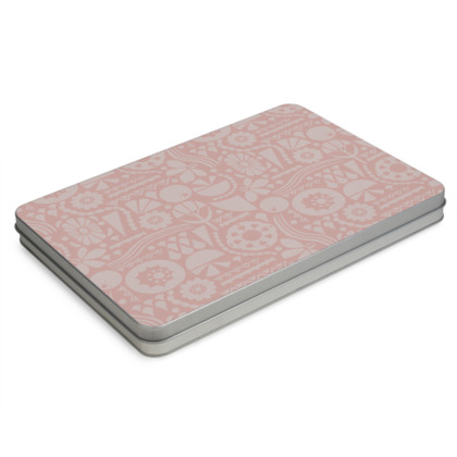 Eclectic Garden Pink A4 Pencil Case Box