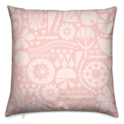 Eclectic Garden Square Large Cushion