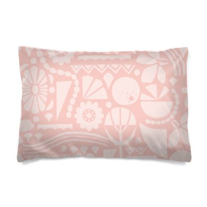 Eclectic Garden Pink Pillow Case