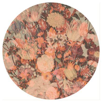 Serving platter Victorian Warm Flower collage