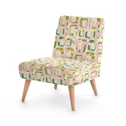 Vintage Geometry Occasional Chair