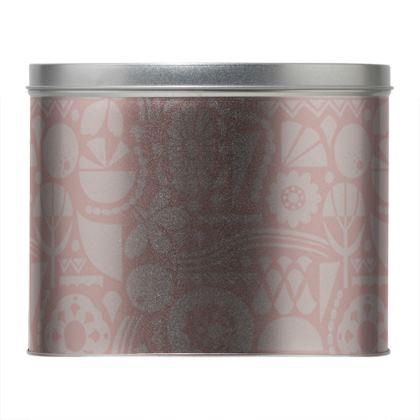 Eclectic Garden Pink Round Tin