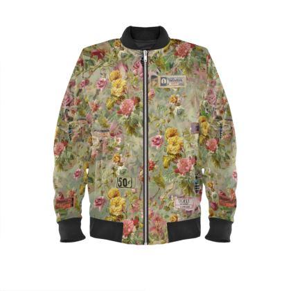 Bomber Jacket Flower Festival