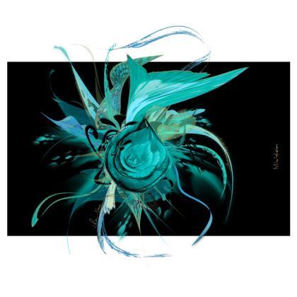 Zip Top Handbag - Zip Top Handväska - Turquoise black