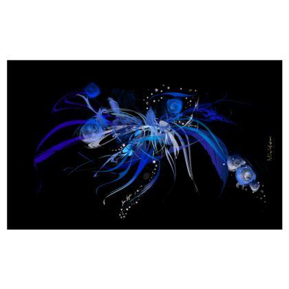 Zip Top Handbag - Zip Top Handväska - Blue black